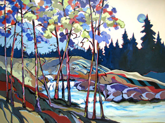 """Upper Silver Creek,"" painting by Carolee Clark"