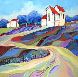 """Tapestry Hill"" painting by Carolee Clark"