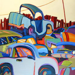 """Pile It On"" painting by Carolee Clark"
