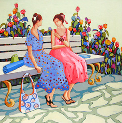 """Confidences"" painting by Carolee Clark"