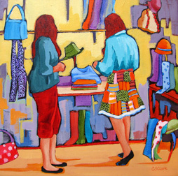 """Fashion Fix"" painting by Carolee Clark"