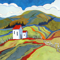 """Wanderers Welcome"" painting by Carolee Clark"