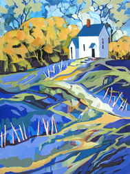 """Seclusion"" landscape painting by Carolee Clark"