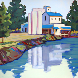 """Mill Pond"" painting by Carolee Clark"