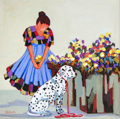 Patience - painting by Carolee Clark