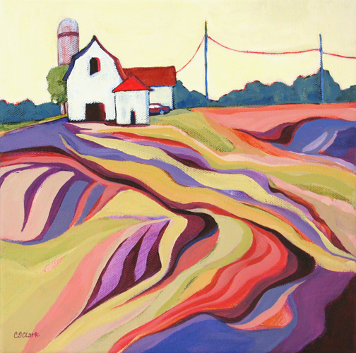 Farm Country - painting by Carolee Clark